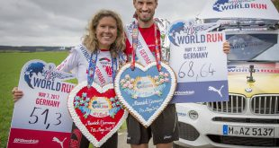 Sebastian Hallmann und Bianca Meyer gewinnen den Wings for Life World Run in Munich, Germany Copyright Foto Flo Hagena, Wings for Life World Run