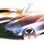 Design sketch BMW i3 and BMW i8 (02/2011). (C) BMW AG