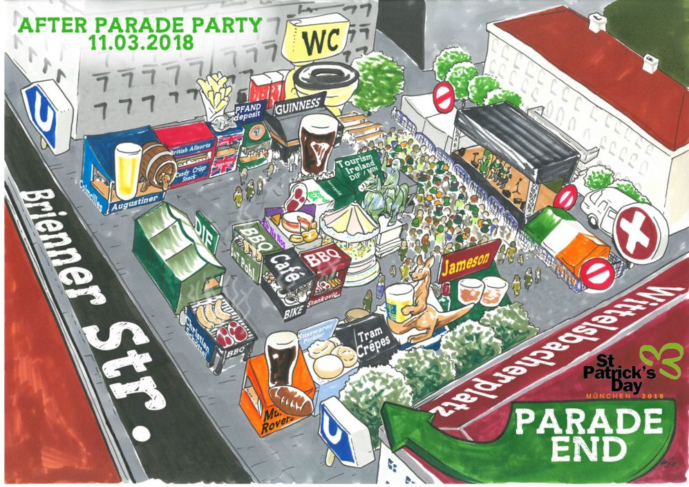 Lageplan After Parade Party Wittelsbacher Platz 2018 Copyright Grafik Prof. Henning Janssen