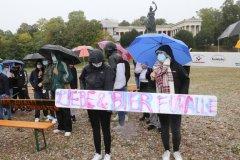 40 Jahre Oktoberfestattentat, Gedenken mit Christian Springer unter der Bavaria auf der Theresienwiese in München 2020