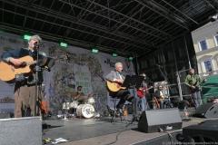 Paul Daly Band und Dieter Reiter (Mitte), After Parade Party St. Patricks Day am Wittelsbacher Platz in München 2019