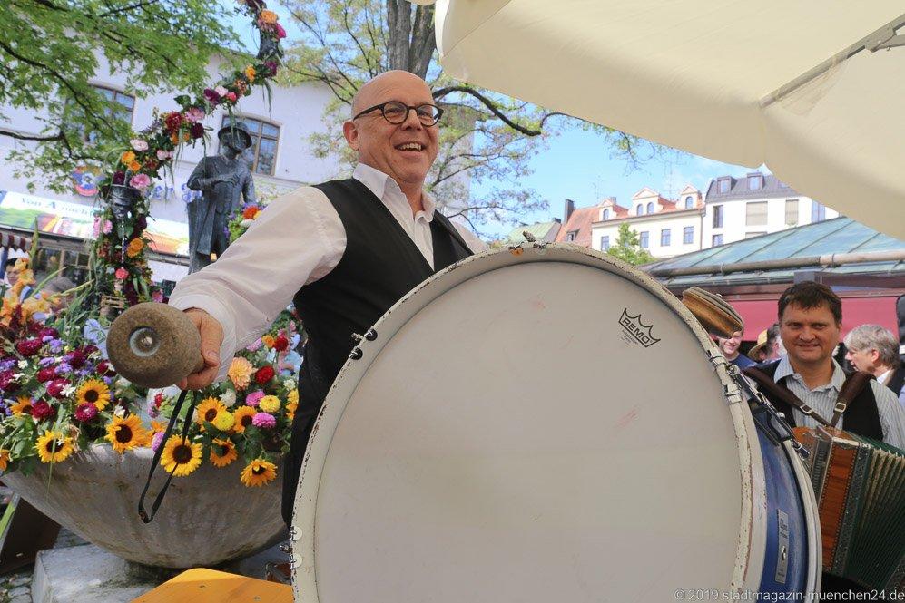 Jürgen Kirner,  Brunnenfest  am Viktualienmarkt in München 2019