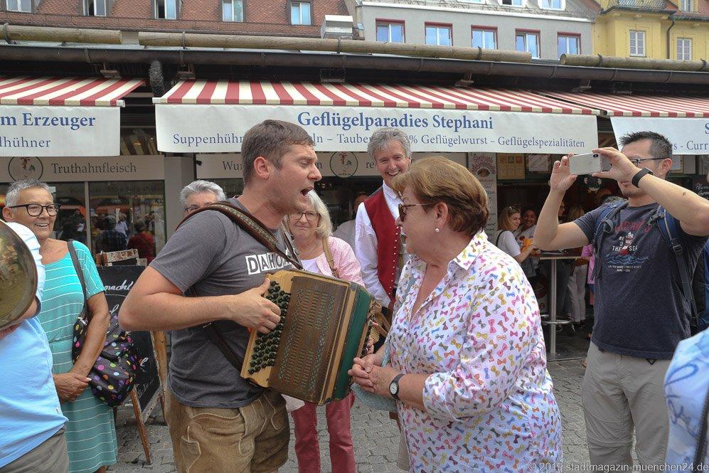 Säißer Senf,  Brunnenfest  am Viktualienmarkt in München 2019