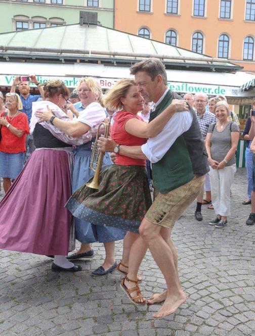 Peter Reichert,  Brunnenfest  am Viktualienmarkt in München 2019