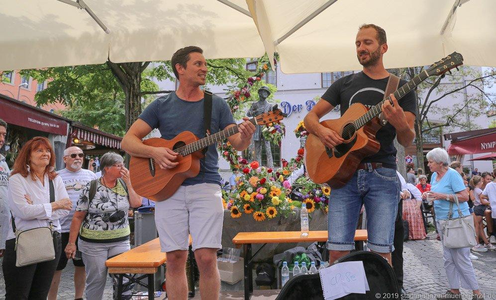 Mission Maibaum,  Brunnenfest  am Viktualienmarkt in München 2019