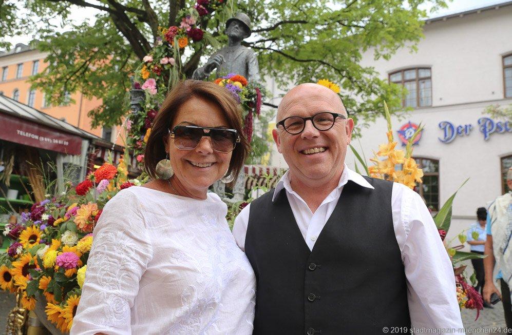 Gitti Walbrun und Jürgen Kirner,  Brunnenfest  am Viktualienmarkt in München 2019
