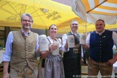Oliver Lentz, Prof. Irmi Eisenbarth, Dr. Marc Eisenbarth, Johann Marx (von li. nach re.), Café Guglhupf 2.0, Bayerisches Traditionscafé im Herzen von München 2021
