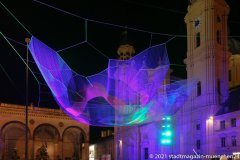 Earthtime 1.26 by Janet Echelman am Odeonsplatz in München 2021