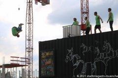 Free Arts of Movement,  Eröffnung der Außengastronomie im Werksviertel Mitte 2021