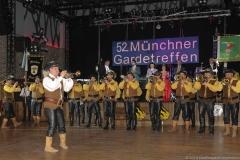 Fanfarenzug Münchner Musketiere beim 52. Gardetreffen am Nockherberg in München 2019