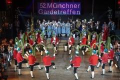 Schäfflertanz am 52. Gardetreffen am Nockherberg in München 2019
