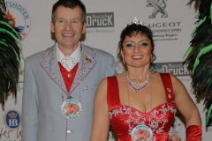 Prinzenpaar Manfred I. und Olivera I., 52.  Münchner Gardetreffen am Nockherberg in München 2019