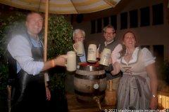Dr. Marc Eisenbarth, Luitpold Prinz von Bayern, Oliver Lentz, Prof. Dr. Irmi Eisenbarth (von li. nach re.), Herbstfest im Café Guglhupf in München  2021