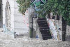 Hochwasser der Isar in München 2020