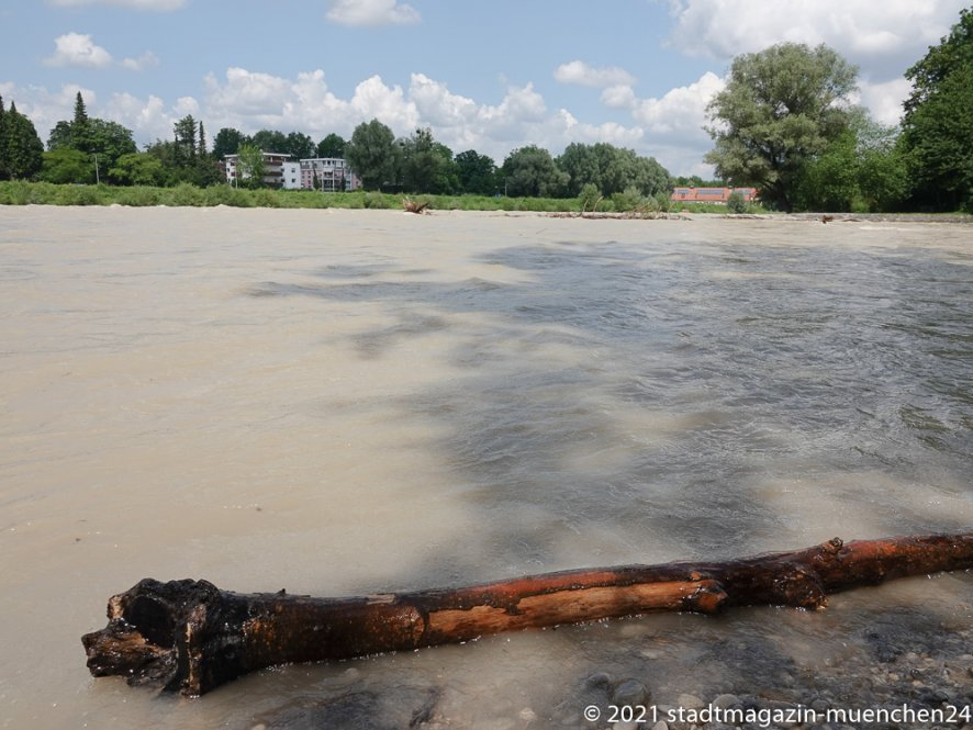 Hochwasser Isar in München 2021