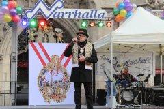 Dr. Norbert Schmid, Inthronisation der Narrhalla Prinzenpaare am Marienplatz in München 2020