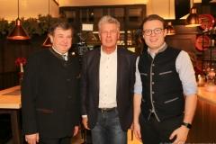 Lorenz Stiftl, Dieter  Reiter, Stefan Stifl (von li. nach re.), Jahresessen der Innenstadtwirte im Gasthaus zum Stifl in München 2019