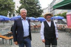 Dieter Reiter und Paul Daly (re.), Munich Irish Nights am Rindermarkt 2021