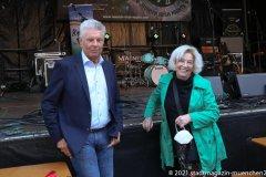 Dieter Reiter und Veronika von Quast, Munich Irish Nights am Rindermarkt 2021