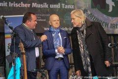 Clemens Baumgärtner, Erich Lejeune,Johnny Logan (von li. nach re.), Munich Irish Nights am Rindermarkt 2021