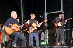 Dieter Reiter (li.) und die Paul Daly Band, Munich Irish Nights am Rindermarkt 2021