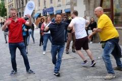 Hofbräuhaus, tanzende Touristen, Munich Unplugged bei den Innstadtwirten in München 2019
