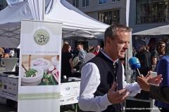 Infostand, Interview Gregor Lemke, Munich Unplugged bei den Innstadtwirten in München 2019