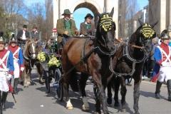 Parade St. Patricks Day in der Ludwigstraße in München 2019