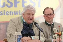 Edmund Radlinger und Manuel Pretzl (re.), Presserundgang Frühlingsfest auf der Theresienwiese in München 2019