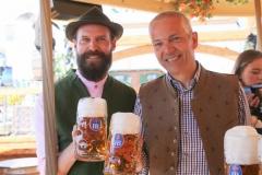 Manfred Zehle jun. und Dr. Michael Möller (re.), Presserundgang Frühlingsfest auf der Theresienwiese in München 2019
