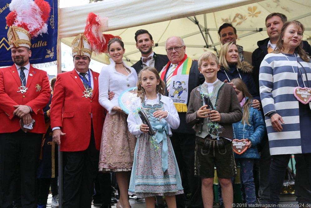 Proklamation Narrhalle Prinzenpaar 2019 am Viktualienmarkt in München 2018