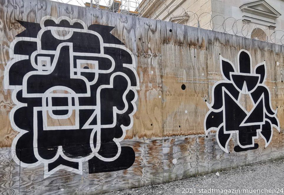 Sommer in der Stadt, Graffiti am Königsplatz 2021