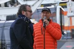 Axel Schulz (re.), Weltrekordversuch: Franz Müllner will das Riesenrad aus eigener Kraft bewegen 2019