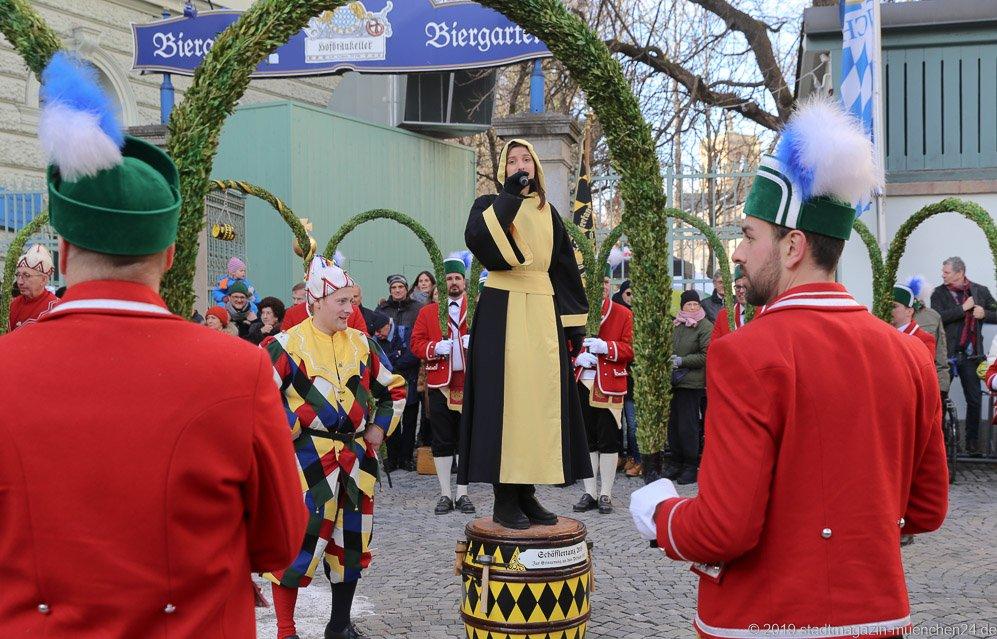 Schäfflertanz am Winterfest im Hofbräukeller in München  2019