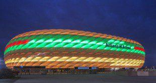 Allianz Arena als Burger