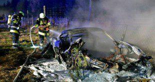 Porsche ausgebrannt