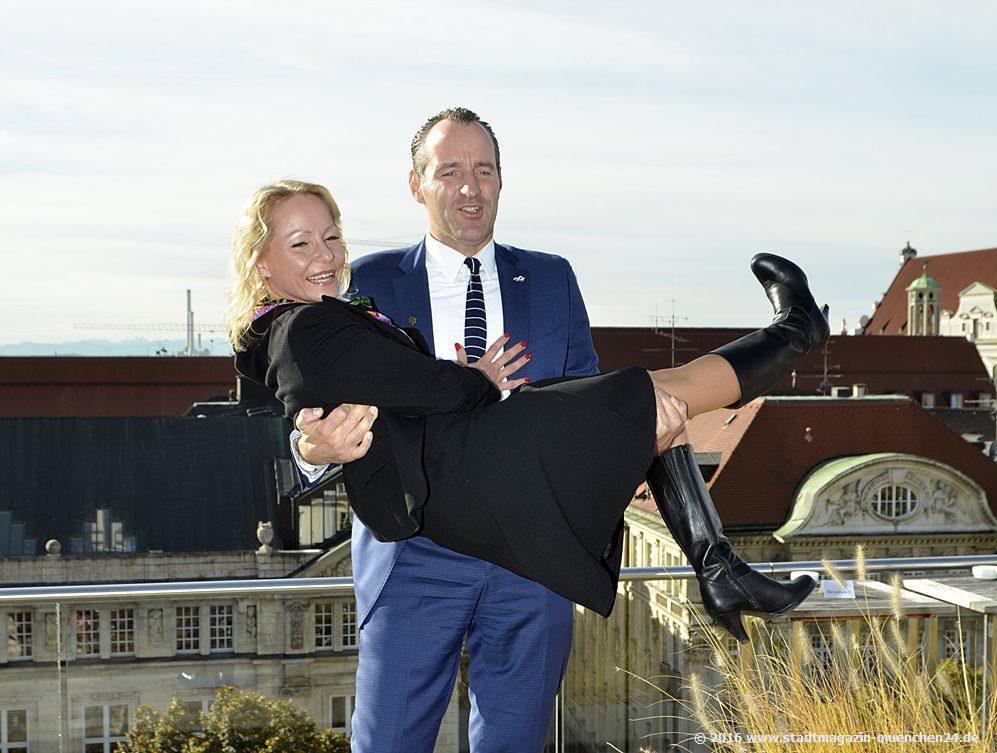 Narrhalla Prinzenpaar 2017 auf der Dachterrasse Hotel Bayerischer Hof