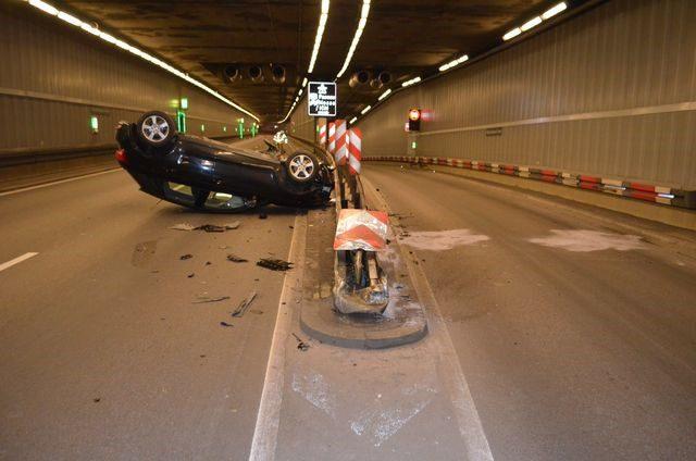 Verkehrsunfall Richard-Strauss-Tunnel München  Quelle Foto Polizei München