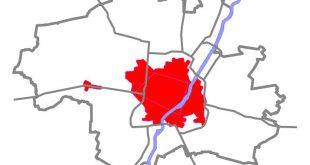 Vollanschlussgebiet (rot) München, Räumpflicht und Streupflicht im Winter