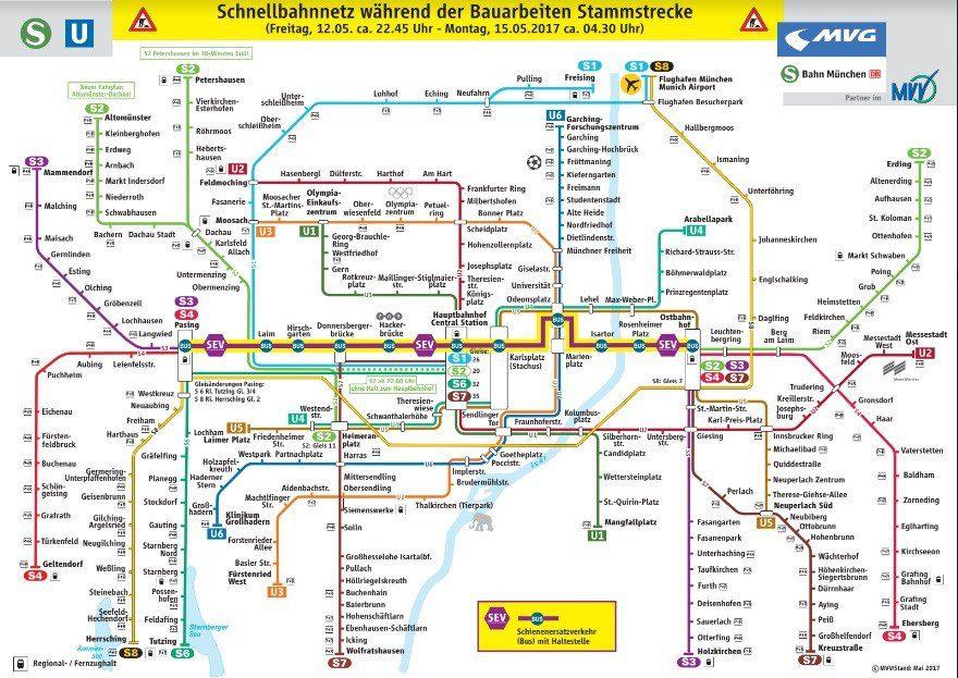 S Bahn Karte München.S Bahn München Sperrung Der Stammstrecke Am Wochenende Die