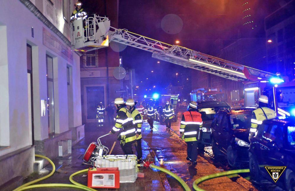 Brand Landsberger Straße München mit einem Toten Quelle Foto Feuerwehr München