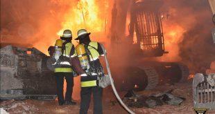 Brandstiftung an Bagger in der Zenettistraße in München Quelle Foto Feuerwehr München