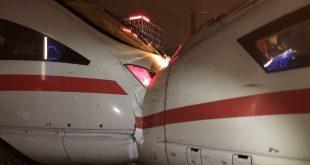 Zwei ICE bei Rangierfahrten in München zusammengestoßen Quelle Foto Bundespolizei