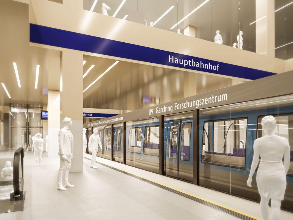 Grafik U9 Hauptbahnhof München