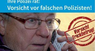 Plakat Warnung vor falschen Polizisten