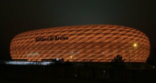 Allianz Arena in Orange