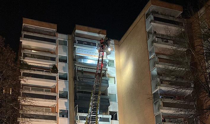 Wohnungsbrand Adenauerring Neuperlach München