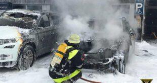 Elektroauto in Brand geraten