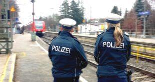 Bundespolizei Streife am S-Bahnhof Fasanerie
